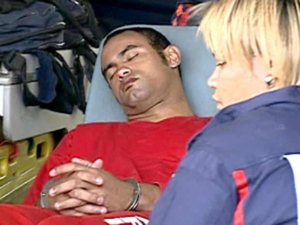 Bruno chega em hospital