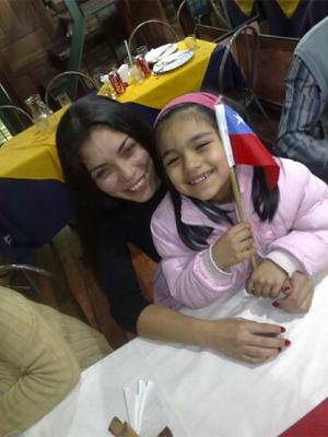 Chilena assiste a resgate com filha