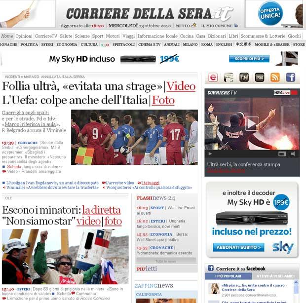 'Não somos estrelas', destaca o italiano 'Corriere della Sera'