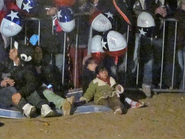 Crianças no acampamento.