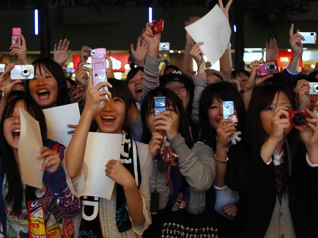 Fãs de Justin Bieber no Japão