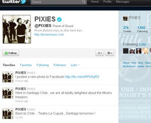 Membros do Pixies publicaram mensagem no Twitter.