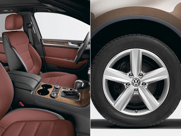 Touareg Exclusive ganha revestimento em couro bordô e novas rodas de 19 polegadas