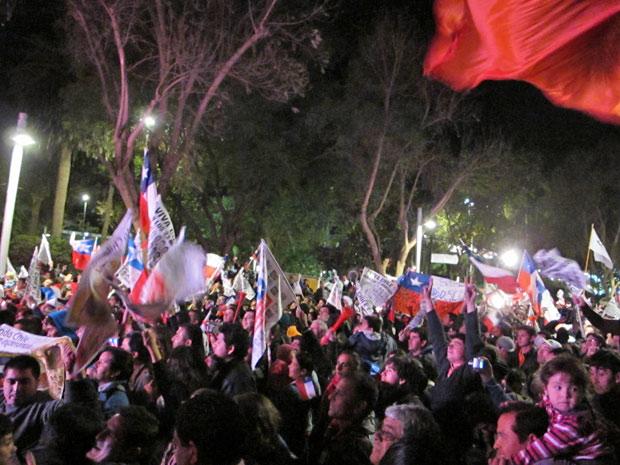 Comemoração na praça das armas de copiapó na noite desta quarta-feira (13)