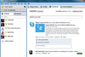 Novo Skype com Facebook