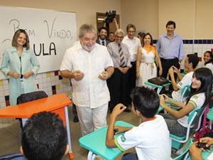 Presidente Lula visita às instalações ampliadas do Campus Teresina Central, do Instituto Federal de Educação, Ciência e Tecnologia do Piauí (IFPI)