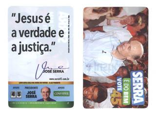 Cartão distribuido em evento em São Paulo