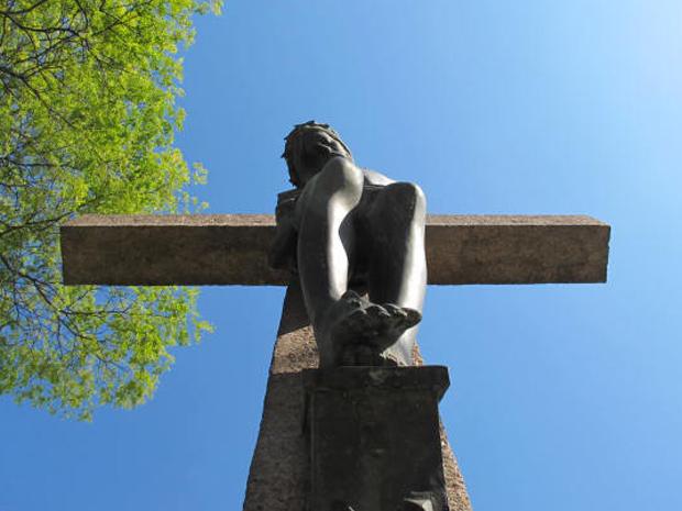 Cristo sem os braços em praça em São Paulo