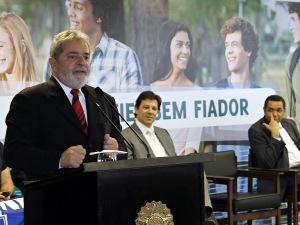 Presidente Lula durante lançamento do Fundo de Garantia do Financiamento ao Estudante do Ensino Superior (Fies), nesta quarta-feira (20).