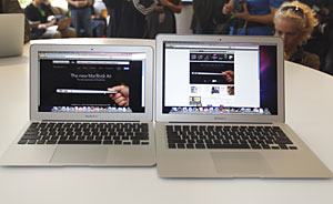 Novos modelos da linha MacBook Air, da Apple.