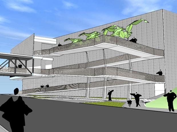 Projeção mostra como deve ficar o novo camelódromo no entorno da estação de trem Central do Brasil
