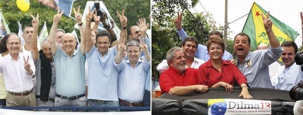 Presidenciáveis participam de eventos no Rio: Serra esteve em Copacabana e Dilma visitou bairros da Zona Oeste