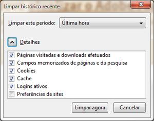 Painel de limpeza de dados do Firefox não elimina o evercookie.