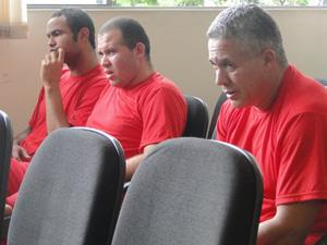 Bruno, Macarrão e Marcos Aparecido dos Santos, o Bola