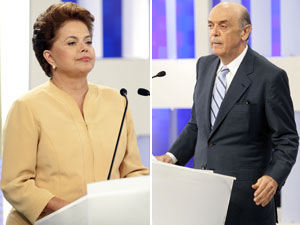 Dilma e Serra participam de debate em SP.