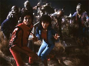 Cena do videoclipe Thriller, lançado em 1983
