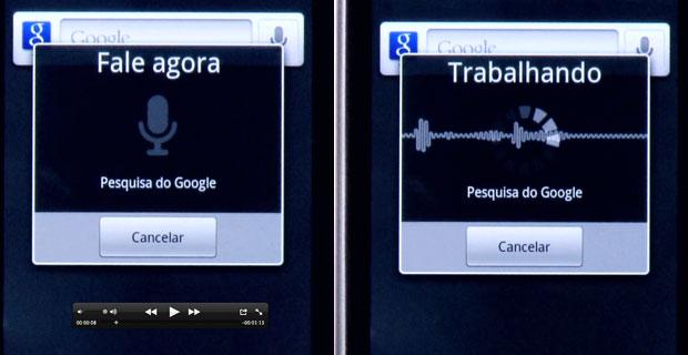 Aplicativo de comando de voz do Google