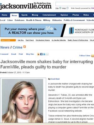 Reportagem do jornal da Flórida divulga foto da mulher que admitiu ter matado bebê