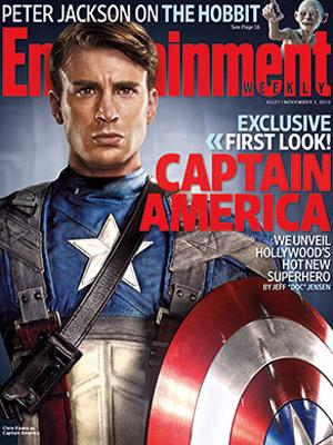 Capa da 'Entertainment Weekly' com o ator Chris Evans como Capitão América