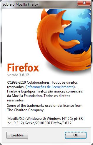 Entre em 'Ajuda, Sobre o Mozilla Firefox' para ver qual versão está instalada.