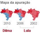 Compare o desempenho de Dilma e Lula (Editoria de Arte/G1)