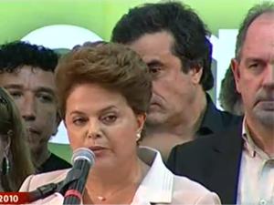 Dilma faz 1º pronunciamento como presidente eleita