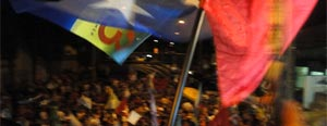 Eleitores fazem festa para Dilma em SP, Rio e MG; siga no blog (Alex Araújo/G1)