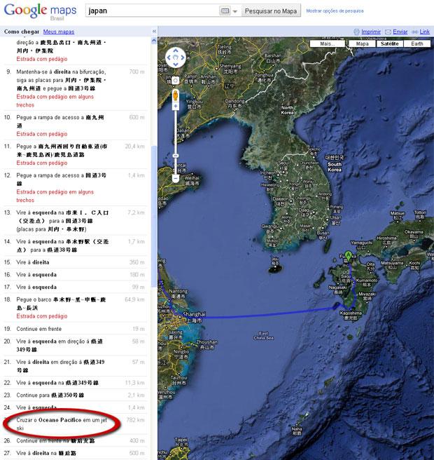 Google sugere ir de jet ski para a China.