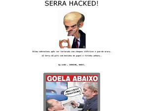 Site de José Serra na noite deste domingo (31).