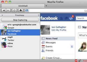 Contas capturadas pela rede aparecem em painel no Firefox. Basta clicar duas vezes e você estará na página do usuário, logado como ele