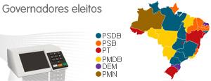 PSDB conquista oito governos estaduais; PSB fica com seis (Editoria de Arte / G1)