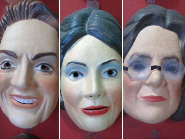 Dilma tem três versões de máscaras para acompanhar as mudanças de seu visual