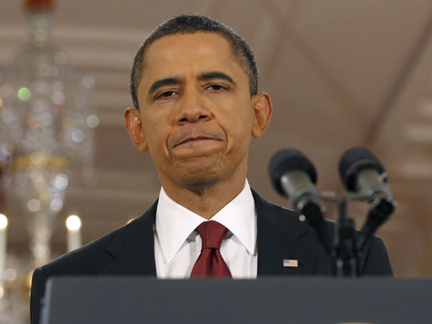 O presidente dos EUA, Barack Obama, dá entrevista nesta quarta-feira (3) na Casa Branca sobre as eleições parlamentares da véspera.