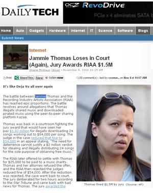 Jammie Thomas-Rasset terá que pagar as gravadoras dos EUA
