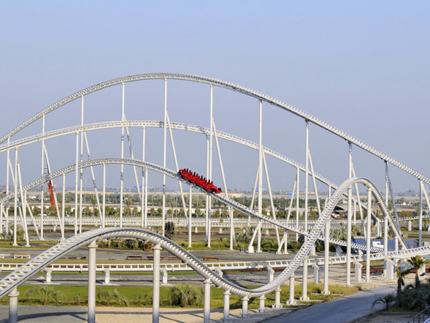 Ferrari World tem a montanha-russa mais rápida do mundo