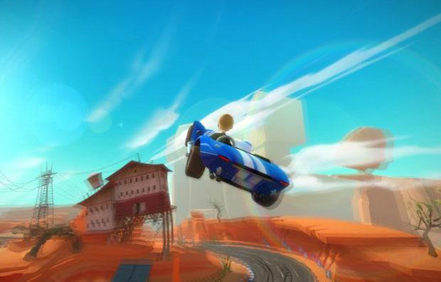 Em 'Joyride', jogador deve pilotar um carro utilizando movimentos do corpo.