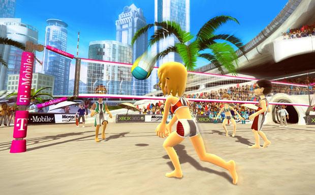 Vôlei de praia é uma das modalidades de 'Kinect Sports'.