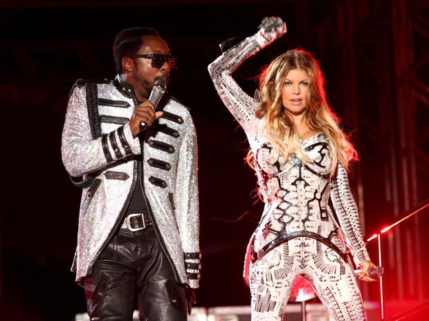 Fergie e Wii.i.am. durante show em São Paulo