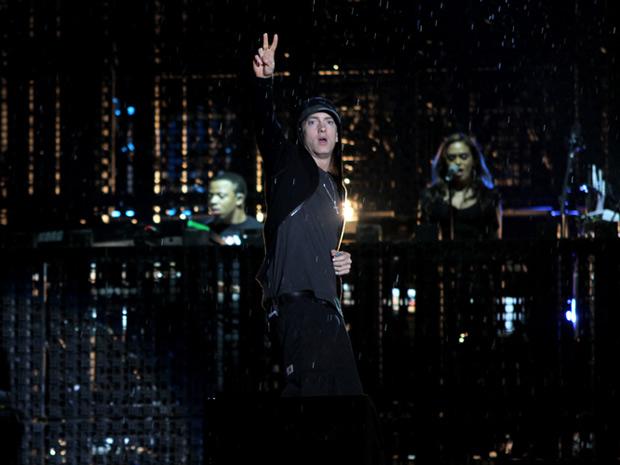 Rapper norte-americano abriu primeira apresentação no Brasil com 'Won't look down'