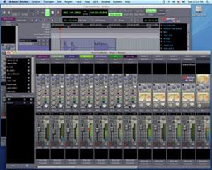 Tela do Ardour, ferramenta de edição de áudio