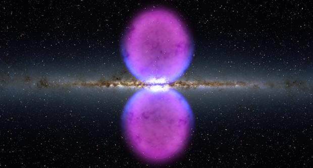 """A Nasa anunciou nesta terça-feira (9) a descoberta de duas bolhas de raios gama no centro da Via Láctea. As estruturas foram detectadas pelo telescópio espacial Fermi. """"Não compreendemos completamente sua natureza e origem"""", afirmou o astrônomo Doug Finkbeiner, o primeiro a discernir a estrutura, que pode ser remanescente de uma erupção de um super buraco negro no centro de nossa galáxia."""
