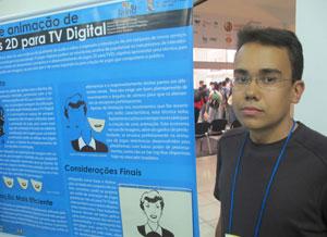 Ricardo apresenta seu projeto para games na TV digital no SBGames. (Foto: Gustavo Petró/G1)