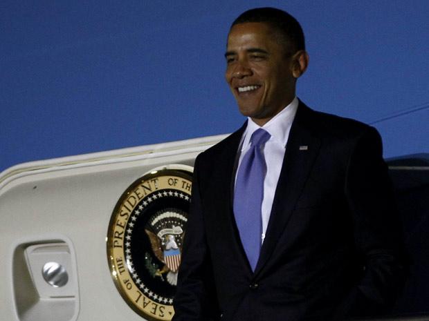O presidente dos EUA, Barack Obama, desembarca em Seul nesta quarta-feira (10).