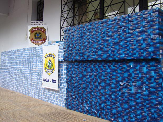 Cigarros são apreendidos em operação contra contrabando no Rio Grande do Sul