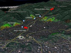 Mapa Tijuca