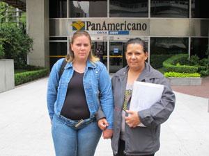 Melina e sua mãe não notaram diferenças no atendimento do banco.