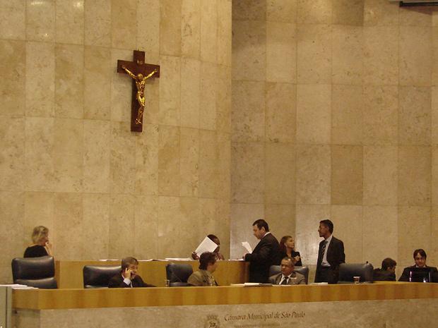 Mesa da Câmara de SP