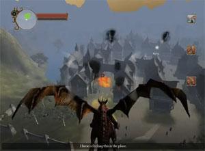 'Krimson' coloca o jogador na pele de um dragão que deve destruir vilarejos.