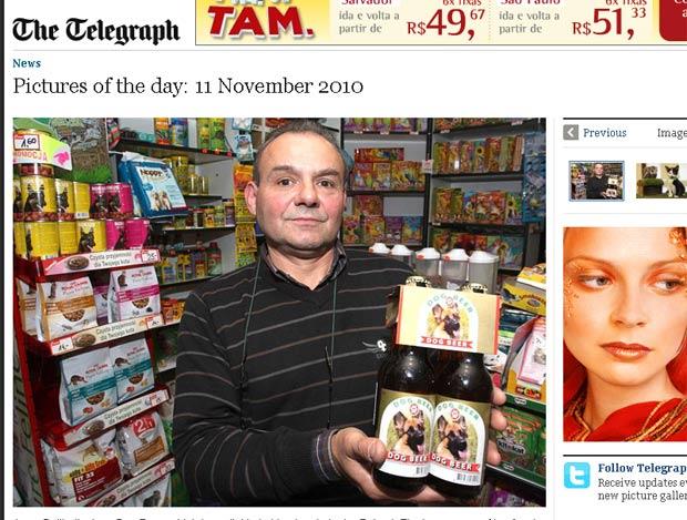 O polonês Jerzy Dylik inovou e vende em sua loja de animais em Lodz, na Polônia, cerveja sem álcool para cachorros. A bebida tem sabor de carne, segundo o jornal inglês 'Daily Telegraph'.