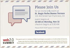 Convite para evento sugere que Facebook anunciará serviço de e-mail.